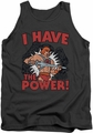 Masters Of The Universe tank top I Have The Power mens charcoal