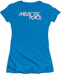 Melrose Place juniors t-shirt Logo turquoise