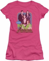 Melrose Place juniors t-shirt No One Is Innocent hot pink