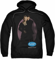 Melrose Place pull-over hoodie Kiss adult black
