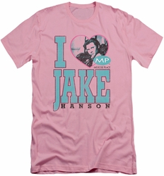 Melrose Place slim-fit t-shirt I Heart Jake Hanson mens pink