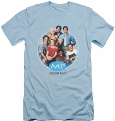 Melrose Place slim-fit t-shirt Season 1 Original Cast mens light blue