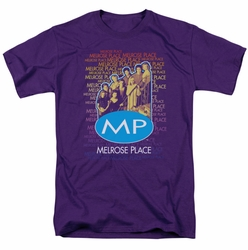Melrose Place t-shirt Melrose Place mens purple