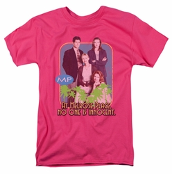 Melrose Place t-shirt No One Is Innocent mens hot pink