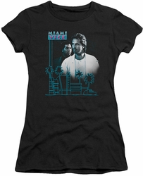 Miami Vice juniors t-shirt Looking Out black