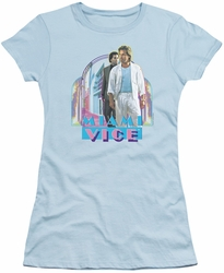 Miami Vice juniors t-shirt Miami Heat light blue