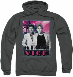 Miami Vice pull-over hoodie Gotchya adult charcoal