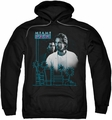 Miami Vice pull-over hoodie Looking Out adult black