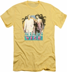 Miami Vice slim-fit t-shirt 80's Love mens banana
