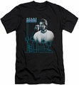 Miami Vice slim-fit t-shirt Looking Out mens black