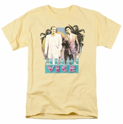 Miami Vice t-shirt 80's Love mens banana
