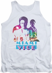 Miami Vice tank top Crockett And Tubbs mens white