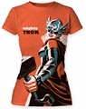 Michael Cho Mighty Thor juniors tunic Heather Orange womens