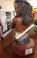 Michonne mini bust Walking Dead SDCC 2013 * misprint *