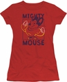 Mighty Mouse juniors t-shirt Break The Box red