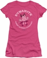 Mighty Mouse juniors t-shirt Dynamite hot pink