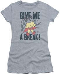 Mighty Mouse juniors t-shirt Give Me A Break athletic heather