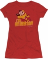 Mighty Mouse juniors t-shirt I'm Mighty red