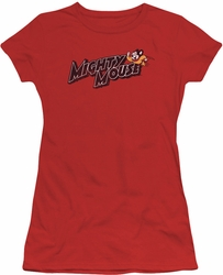 Mighty Mouse juniors t-shirt Might Logo red