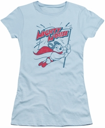 Mighty Mouse juniors t-shirt Mighty Flag light blue