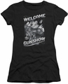 Mighty Mouse juniors t-shirt Mighty Gunshow black