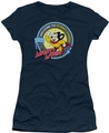 Mighty Mouse juniors t-shirt Planet Cheese navy