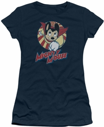Mighty Mouse juniors t-shirt The One The Only navy
