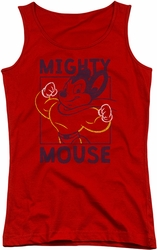 Mighty Mouse juniors tank top Break The Box red
