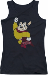 Mighty Mouse juniors tank top Classic Hero black