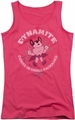 Mighty Mouse juniors tank top Dynamite hot pink