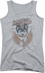 Mighty Mouse juniors tank top Flying With Purpose athletic heather
