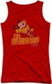 Mighty Mouse juniors tank top I'm Mighty red