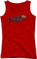 Mighty Mouse juniors tank top Might Logo red
