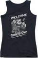 Mighty Mouse juniors tank top Mighty Gunshow black