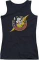 Mighty Mouse juniors tank top Mighty Hero black