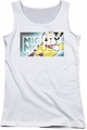 Mighty Mouse juniors tank top Mighty Rectangle white