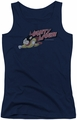 Mighty Mouse juniors tank top Mighty Retro navy