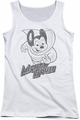 Mighty Mouse juniors tank top Mighty Sketch white