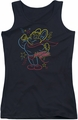 Mighty Mouse juniors tank top Neon Hero black