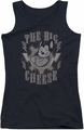 Mighty Mouse juniors tank top The Big Cheese black