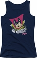 Mighty Mouse juniors tank top The Mightiest navy