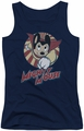 Mighty Mouse juniors tank top The One The Only navy