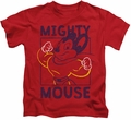 Mighty Mouse kids t-shirt Break The Box red