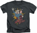 Mighty Mouse kids t-shirt Break Through charcoal