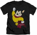 Mighty Mouse kids t-shirt Classic Hero black
