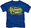 Mighty Mouse kids t-shirt Here I Come royal