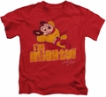Mighty Mouse kids t-shirt I'm Mighty red