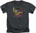 Mighty Mouse kids t-shirt Mighty Circle charcoal