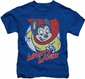 Mighty Mouse kids t-shirt Mighty Circle royal blue