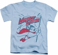 Mighty Mouse kids t-shirt Mighty Flag light blue